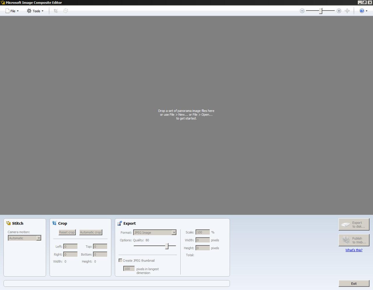 obr.1 - úvodná obrazovka po spustení programu
